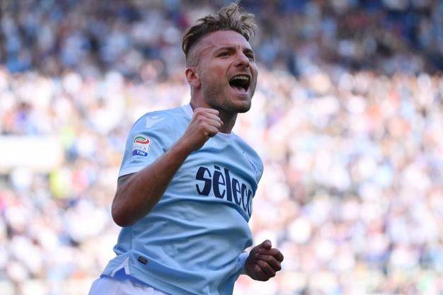 Lazio-Sampdoria 4-0, gol di Immobile (Lapresse)