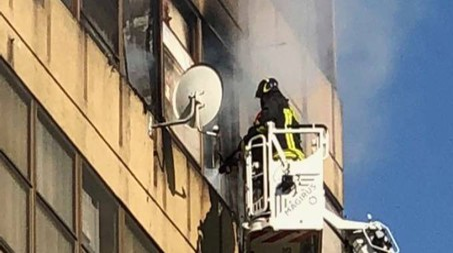 Incendio a  Pieve Emanuele