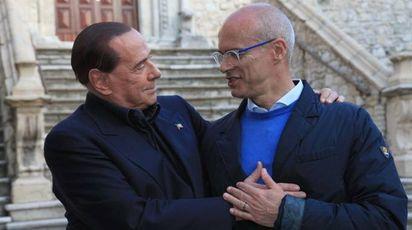 Silvio Berlusconi e Donato Toma (Lapresse)