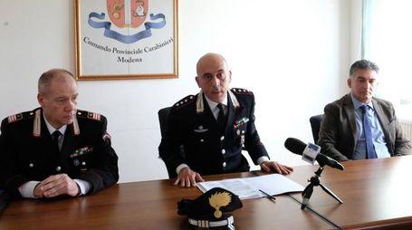 La conferenza stampa dei carabinieri (foto Fiocchi)