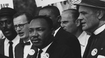 Martin Luther durante la marcia per i diritti civili a Washington (foto NARA)