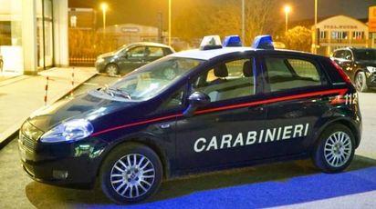 I carabinieri davanti alla palestra
