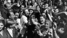 La liberazione di Roma in una foto d'archivio (Ansa)