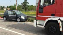 L'incidente  avvenuto tra Modena e Castelfranco