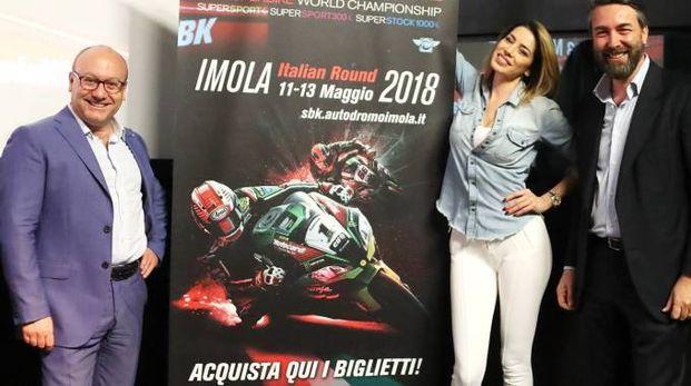 Aida Yespica con Uberto Selvatico Estense di Formula Imola
