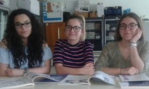 Le studentesse dell'Itc Carrara