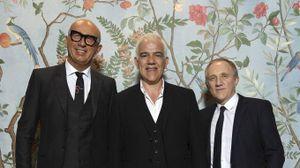 Marco Bizzarri con Massimo Rigucci e Francois-Henri Pinault