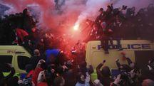 Liverpool prima della semifinale di Champions (Ansa)