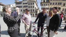 Matteo Renzi a Firenze (Foto NewPressPhoto)