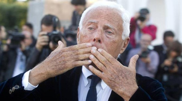 Giorgio Armani (Ansa)