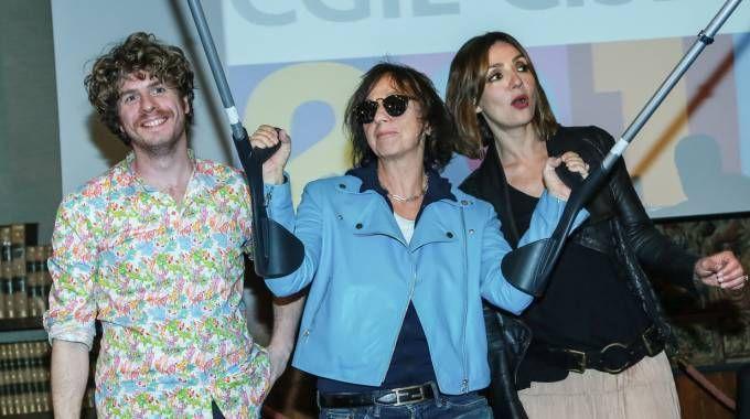 Lodo Guenzi, Gianna Nannini e Ambra Angiolini (Lapresse)