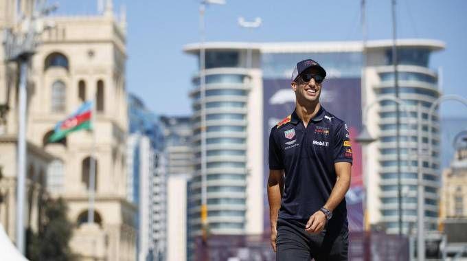 F1, Daniel Ricciardo a Baku (Ansa)