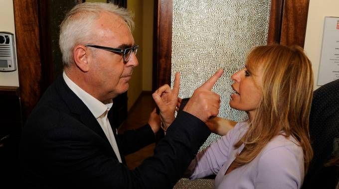 Il sindaco di Macerata Romano Carancini e Alessandra Mussolini (Calavita)
