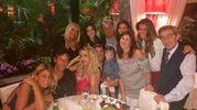 Al ristorante 'Caminetto' con un gruppo di amici