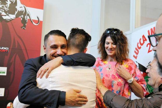 Lucchese, la presentazione del nuovo proprietario Lorenzo Grassini (Foto Alcide)