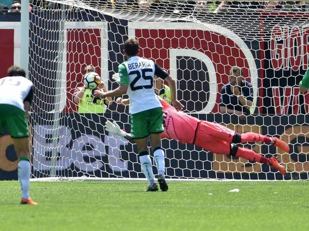 Il gol di Berardi (LaPresse)