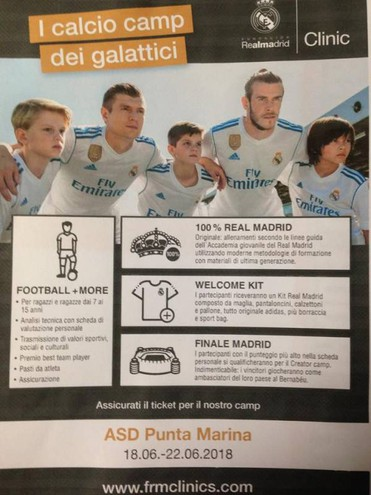Camp Summer del Real Madrid Clinic