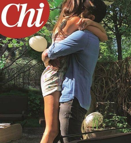 Belen Rodriguez e Fabrizio Corona (Magazine 'Chi)