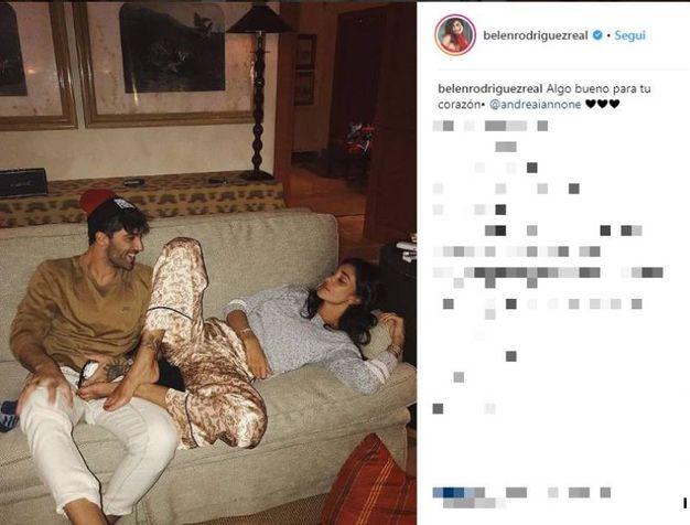 Belen e Andrea Iannone (Instagram)
