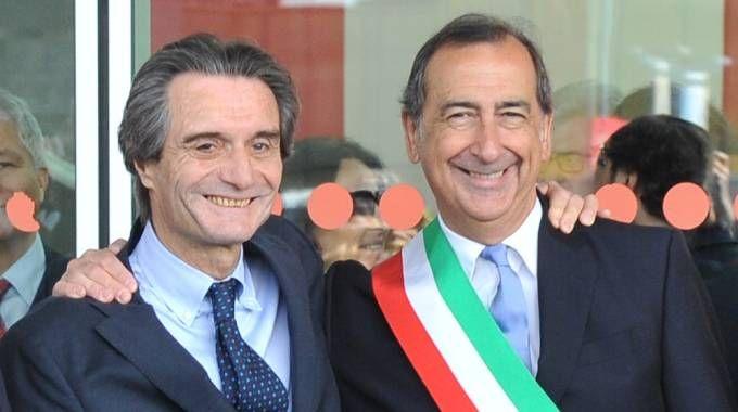 Attilio Fontana, presidente della Regione e Giuseppe Sala, sindaco di Milano