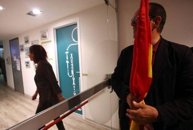 La protesta dei facchini al Leroy Merlin di Rozzano (Lapresse)
