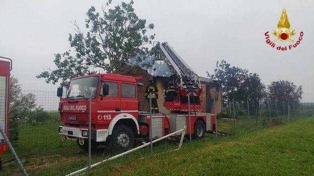 Per spegnere il rogo sono intervenuti i vigili del fuoco del Comando provinciale di Bologna