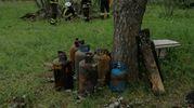 Incendio capannone di uso agricolo in viia Rondanina a Imola