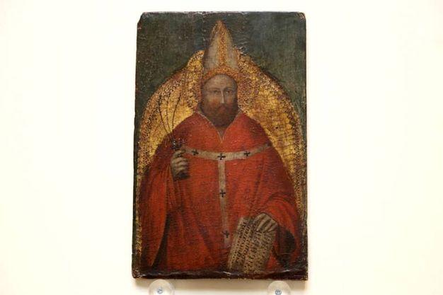 Sant'Ambrogio di Giusto de' Menabuoi, rubato dalla pinacoteca di bologna (Foto Schicchi)