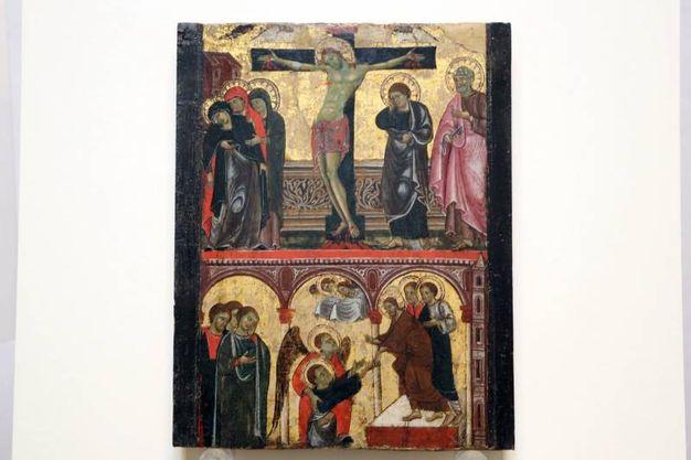 La 'Crocifissione e discesa al Limbo', rubato a Faenza: il dipinto del XIII secolo ha una quotazione di circa 500mila euro (Foto Schicchi)