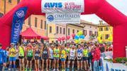 La partenza della 16esima edizione della ColleMar-athon (maratona internazionale da Barchi a Fano) (foto Sandro Franceschetti)