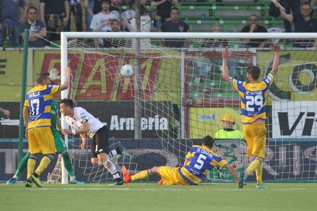 Il secondo gol di Moncini (foto Ravaglia)
