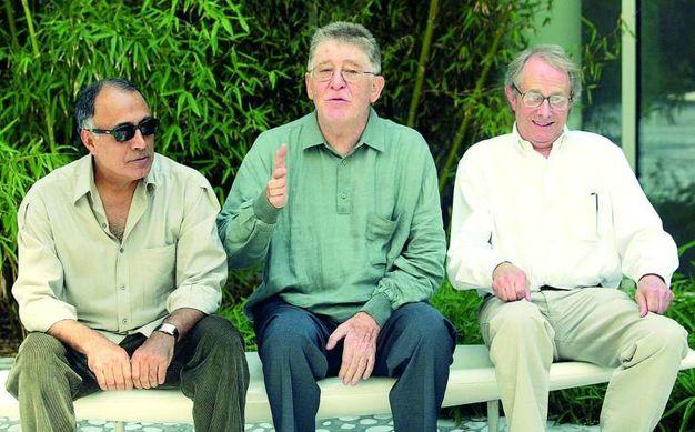Abbas Kiarostami, Ermanno Olmi e Ken Loach (Ansa)