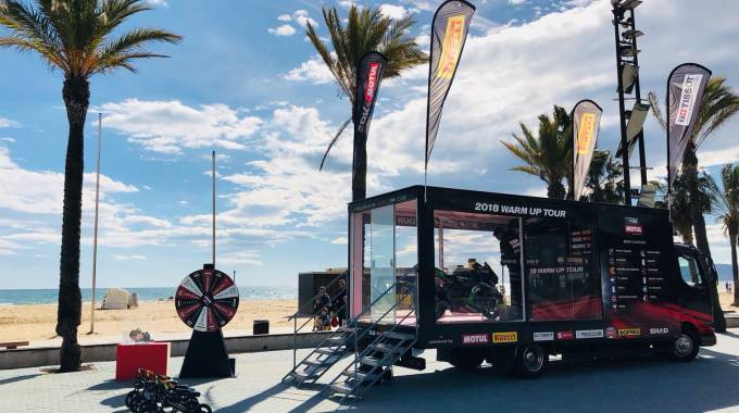 La tappa spagnola del World Sbk Warm up tour