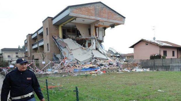 La palazzina esplosa a Rescaldina