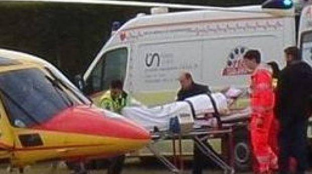 Il ferito è stato portato a Padova