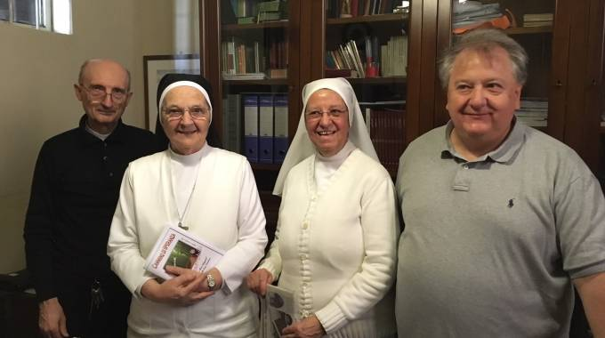 Don Captini, suor Veloso, suor Morelli  e l'assessore Salerno