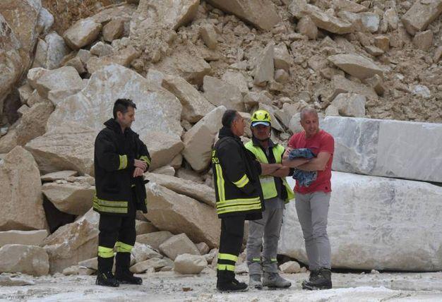 Carrara, incidente in una cava di marmo (Delia)