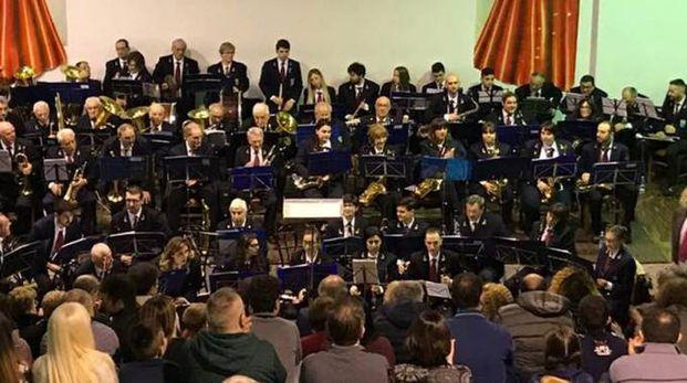 La banda Corinna Bruni di Pinzano durante una esibizione