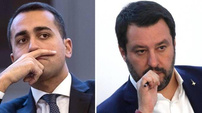 Luigi Di Maio e Matteo Salvini (Ansa)