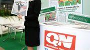 Lo stand Qn-Il Resto del Carlino (foto Ravaglia)