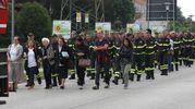 Il saluto dei colleghi del Comando Vigili del Fuoco di Pesaro (Fotoprint)