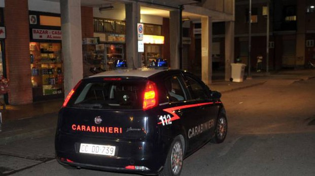 I carabinieri in piazza Garibaldi