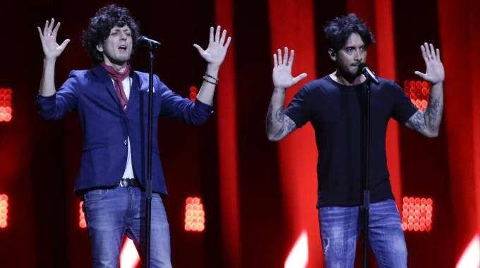 Eurovision 2018, Ermal Meta e Fabrizio Moro (Ansa)