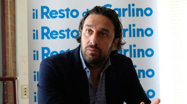 Luca Toni in redazione al Carlino Modena (FotoFiocchi)