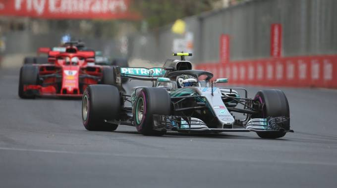 Formula 1 Gp Spagna 2018, Bottas più veloce nelle libere 1 (LaPresse)