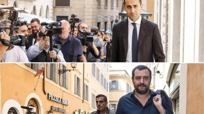 Luigi Di Maio e Matteo Salvini in una foto combo (Ansa)