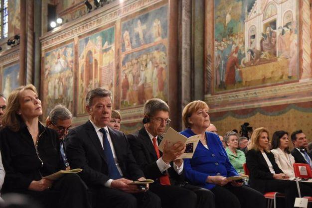 Angela Merkel ad Assisi (Ansa)