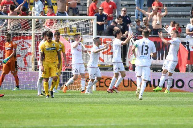 Federico Melchiorri, gol al 41' (Foto Lapresse)