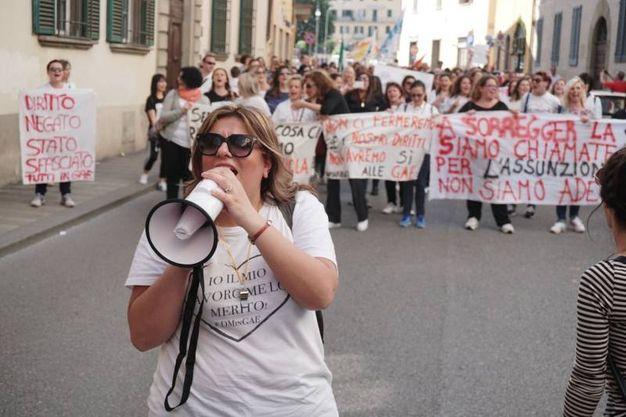 La protesta delle maestre (FotoCastellani)