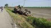 Lievi ferite e grandissimo spavento per il camionista (Scardovi)